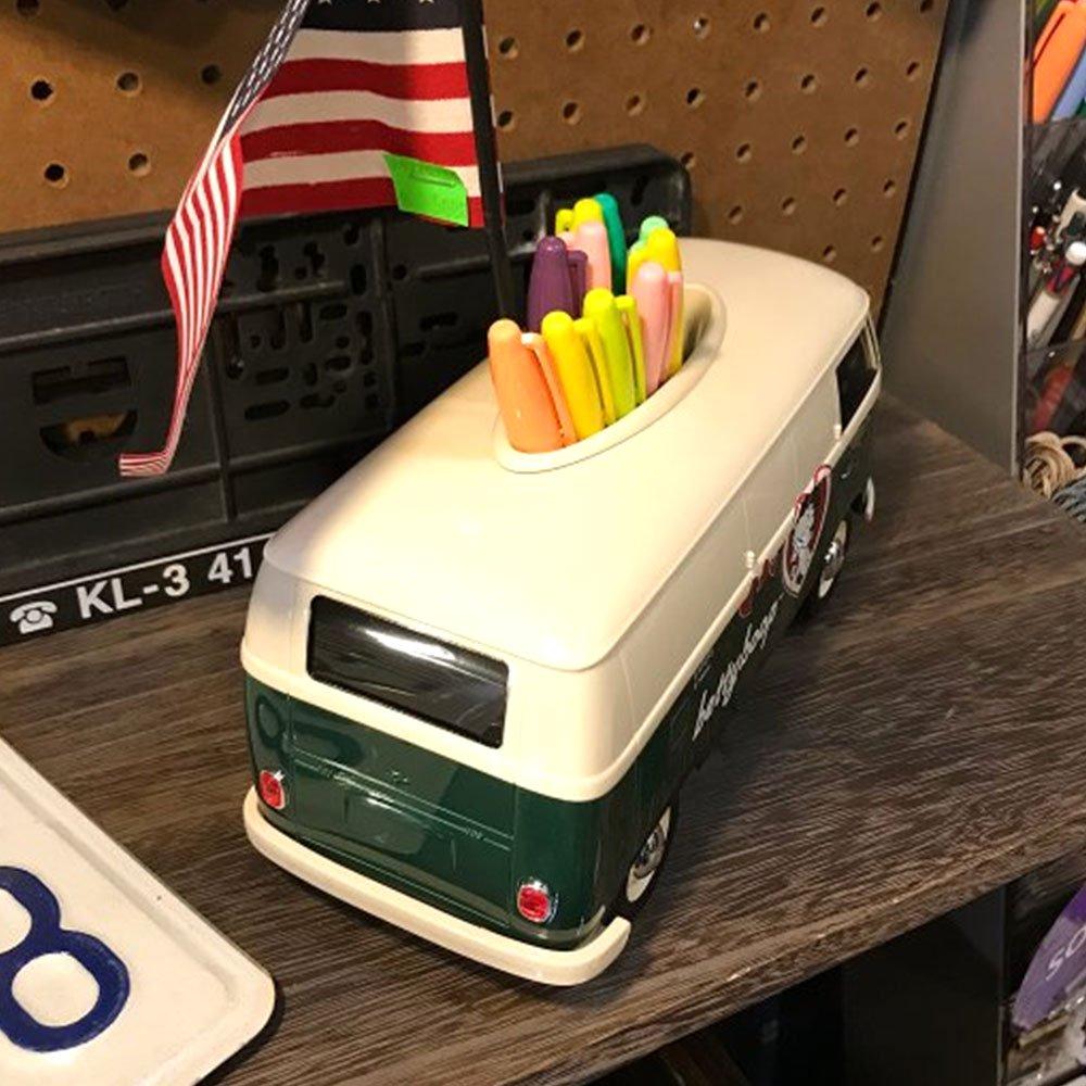 小物入れにも★車型ティッシュケース 2TONE (グリーン/ ホワイトロゴ)BT-WVTC-005 BB