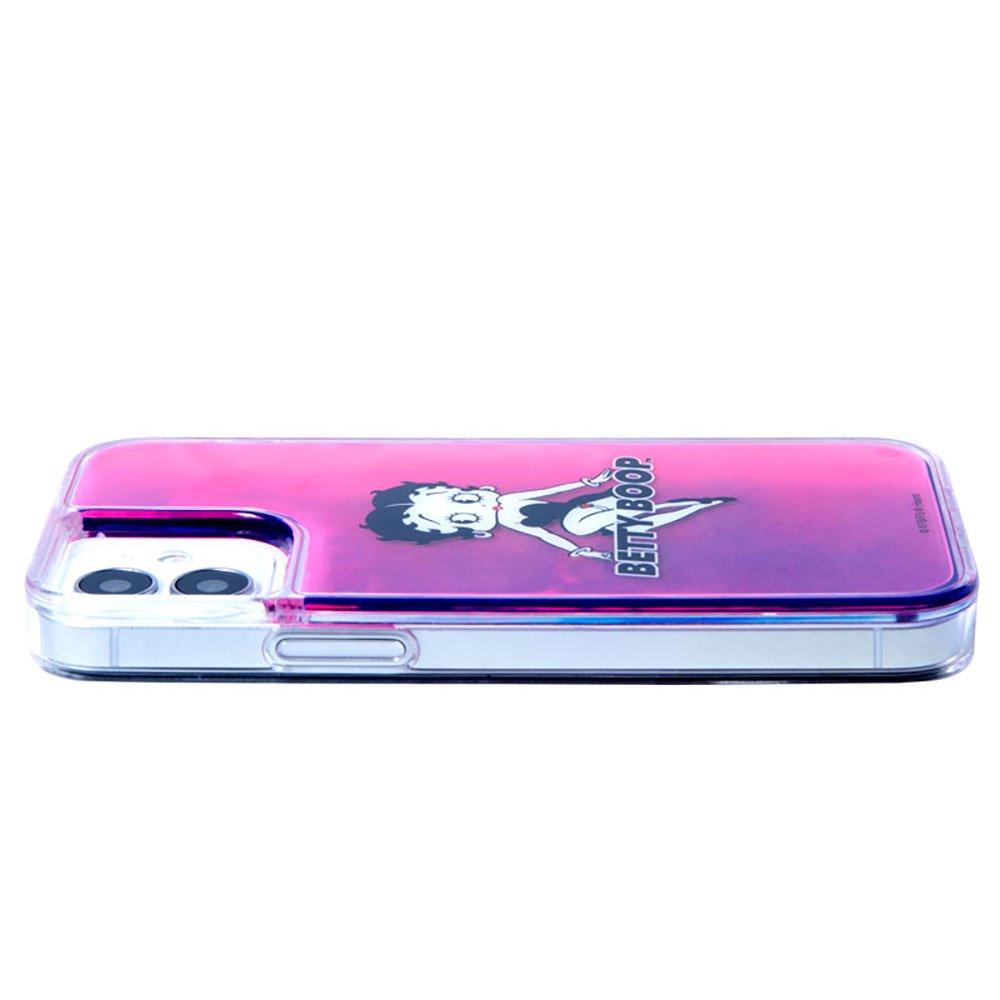 iPhone12/12pro対応ネオンサンドケース (BLACK PINK)SND-001-12PR-PK BB