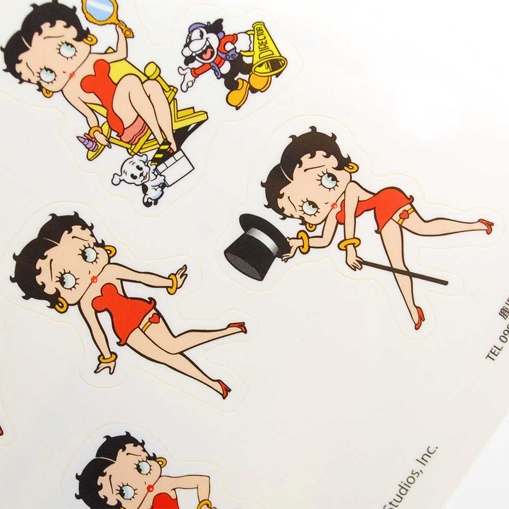 <img class='new_mark_img1' src='https://img.shop-pro.jp/img/new/icons31.gif' style='border:none;display:inline;margin:0px;padding:0px;width:auto;' />Betty Boop ステッカー【All Betty】  BB