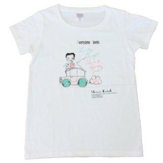 【生産終了品】Tシャツ(BettyBoop1)ホワイト WS BTT2014 BB