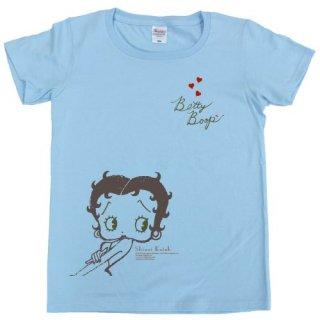 【生産終了品】Tシャツ(BettyBoop2)ライトブルー WS BTT2015 BB