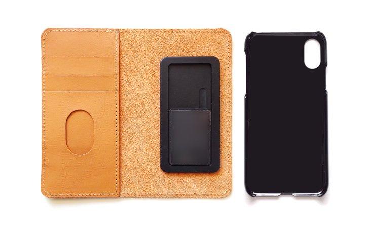サイズが合えばiPhoneやAndroidに対応の革の手帳型スマホケース