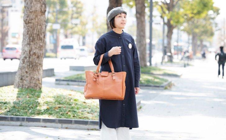 ビジネスに使える革のトートバッグ