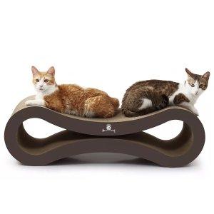 送料無料【メガサイズ 爪とぎ】Scratch King スクラッチキング メガ キャット スクラッチャー ラウンジ 1台3役 猫 8の字 巨大 爪とぎ&ベッド