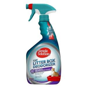 シンプルソリューション 猫トイレ 消臭デオドライザースプレー/大容量945ml