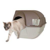 Omega Paw お掃除機能つき回転式猫トイレ レギュラーサイズ  ブラウン&ベージュ 51×58:4×48m
