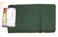 【猫 遊べるマット】シンプルソリューション「キャットニップ マット」ジュエルグリーン 60×40cm 天然キャットニップ10g付