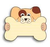 【ペットIDタグ】 オーブントースター使用!専用ペンで文字が消えにくい ファスタグ/犬と骨