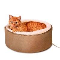 【犬 猫 電気ベッド】 K&H Manufacturing サーモキティベッド 4ワット スエード調 40cm×16cm 猫 小型犬 MET認証済