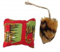 [送料無料]【猫・フェレット おもちゃ】 Boca ハニークッション&ハニーマウス 各1*2個セット カナダ産 ハニーサックル使用