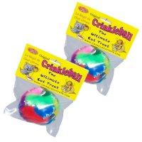 [送料無料]  【猫のおもちゃ】 Cancor  カシャカシャ ボール オリジナル (2個セット) 直径5cm