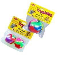 [送料無料]【猫 おもちゃ】  Cancor カシャカシャ ボール オリジナル&カシャカシャボールミニ 各1