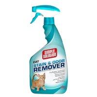 【安全ペット用消臭剤】 シンプルソリューション 猫専用しみ取り消臭スプレー 大容量945ml