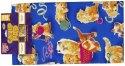【猫用遊べるマット】よだれだらだらスリスリの「キャットニップマット」子猫柄 60×40cm 天然キャットニップ10g付
