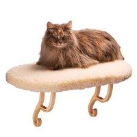 【猫 窓用ベッド】ウィンドウソファーベーシック 窓用ベッド ラムウール調 耐荷重20kg以上