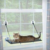 【猫 窓用ベッド】 ウィンドウソファーイージーマウント(簡易取付式) シングル 30 ×58cm