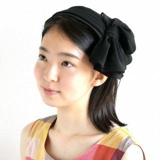 163.リボンのヘッドドレス 黒