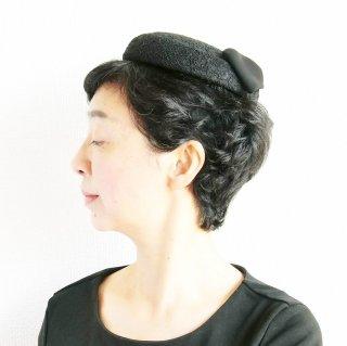 357.慶弔のトーク帽 黒レース