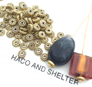 Petit・spacer☆  Bashed・アンティークGOLD・40コ