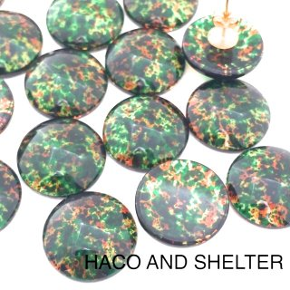Camouflagee☆Glass cabochon・10コ