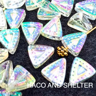 Aurora SANKAKU☆ Glass beads・10コ