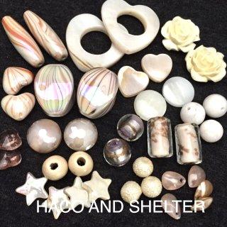 white&pearl☆mixbeads・約36コ(おまかせMIX)