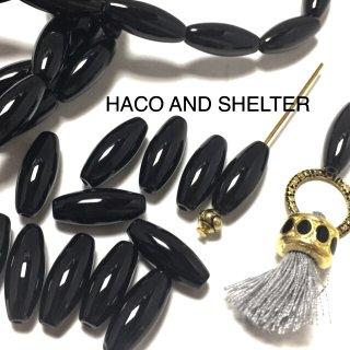 Natural Black Agate・10コ(瑪瑙石加工)