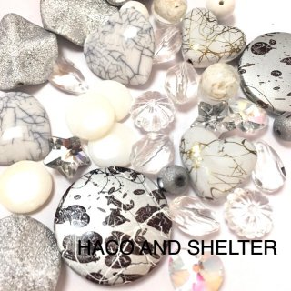 White&Clear☆mixbeads・約32コ(おまかせMIX)