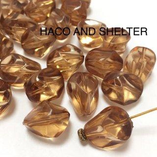 Tea Brown amber☆Acrylic beads・16コ