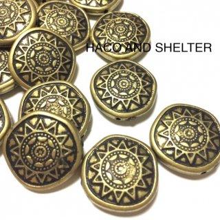 Bohemian Antique Gold・10コ☆acrylic beads(large size)