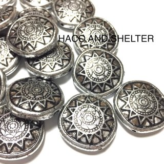 Bohemian Antique Silver・10コ☆acrylic beads(large size)