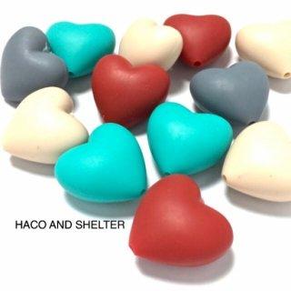 Pukkuri Rubber Heart☆acrylic beads・8コ