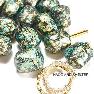 TurkeyBlue・Rock・14コ☆Acrylic beads(large size)