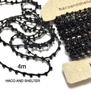 4m・seedbeads yarn☆black