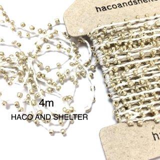 4m・seedbeads yarn☆white gold