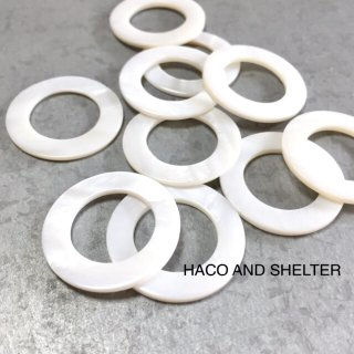 shell・White hoop☆8コ(large size hoop)