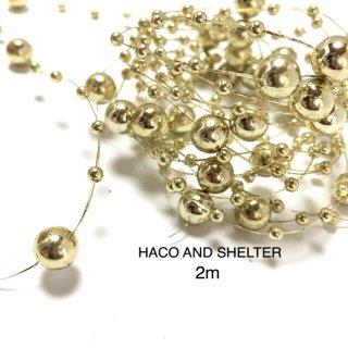 Gold Garland☆2m(plastics beads cord)