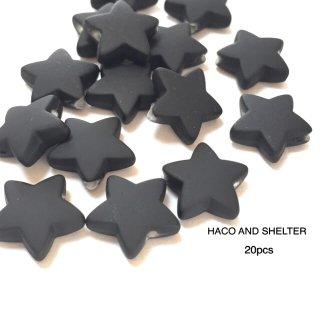 petit rubber star・20コ☆acrylic beads