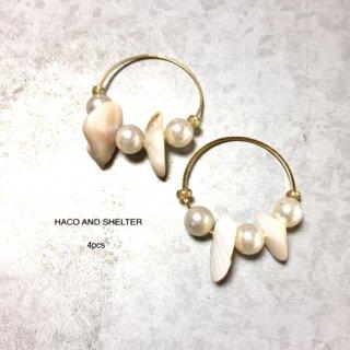 shell+pearl slimhoop★4pcs