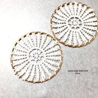 4pcs★big french lace・white