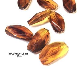 amber beads/rectangle★12pcs