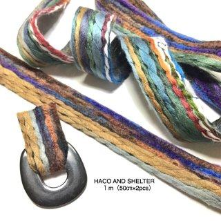bohemian free style ribbon★1m(50cm×2pcs)