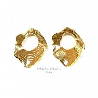 6pcs★wave oval charm