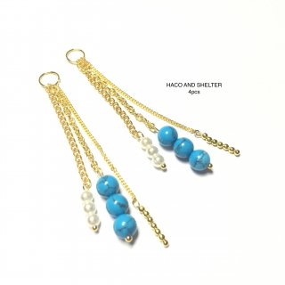 4pcs★turquoise swing