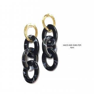 4pcs★chain long linking/black