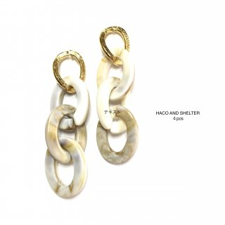 4pcs★chain long linking/ivory