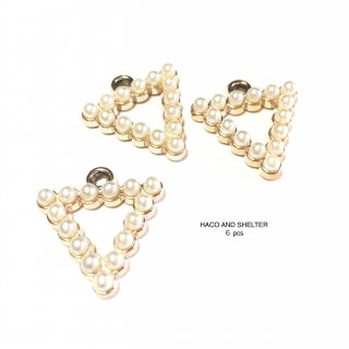 6pcs★triangle petit pearl charm(acrylic)
