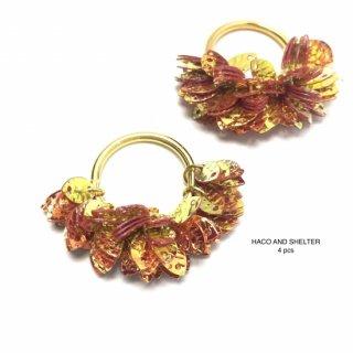 4pcs★frill leaf・mandarin(PVC)