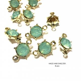 8pcs★turquoise rhinestone petit linking