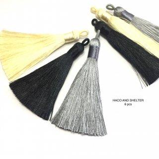 6pcs★long volume tassel・ chic color size75mm~